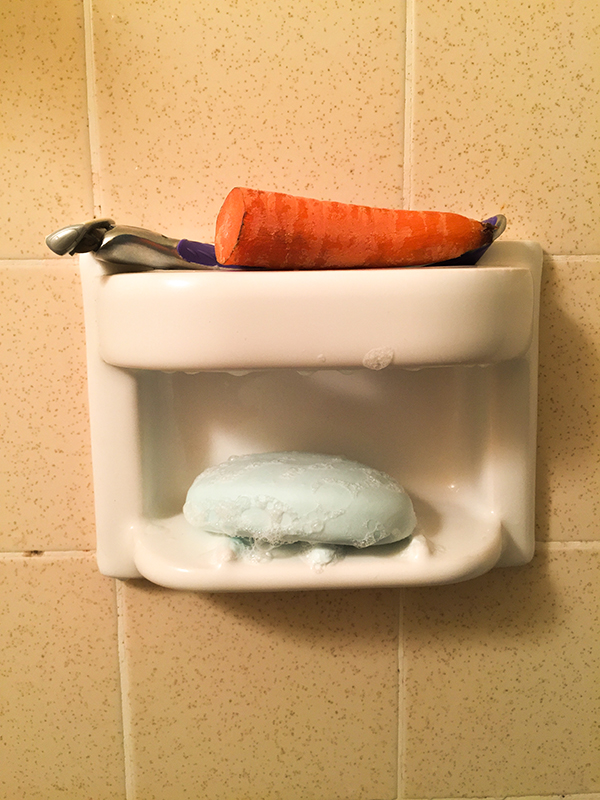 Carrot in the shower